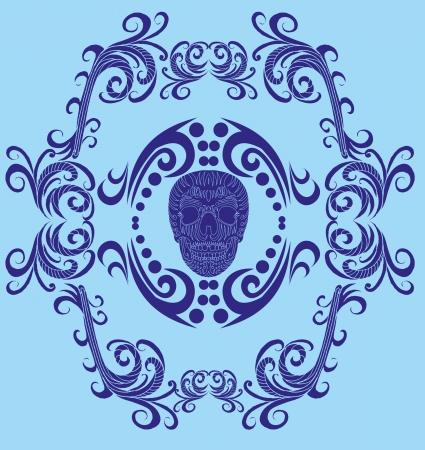 tattoo tribal skull vector art Vector