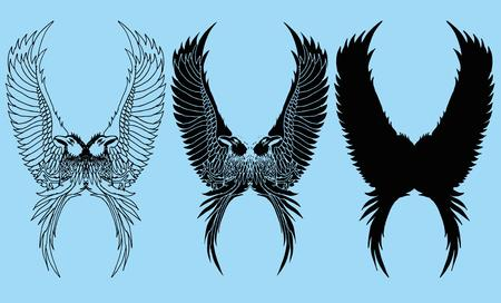tattoo tribal birds vector art Vector