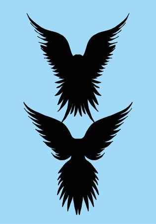 tattoo tribal birds vector art Vector