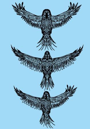 ruiseñor: tatuaje tribal aves art