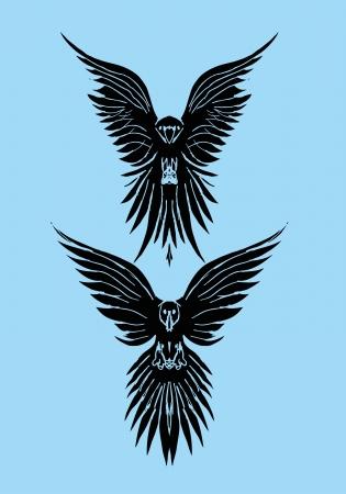 tattoo tribal birds vector art Stock Vector - 22249489