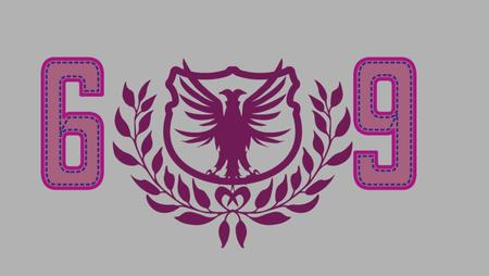 swooping: college eagle tribal vector art