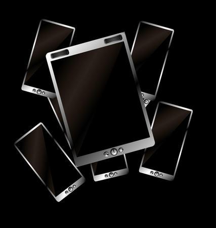metalic tablet pc vector art Stock Vector - 22249743