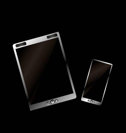 metalic tablet pc vector art Stock Vector - 22249754