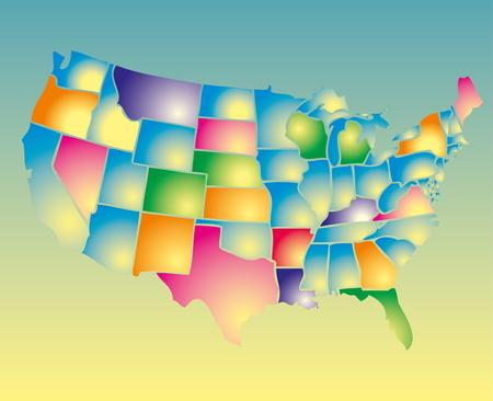 american map eps8 vector art Stock Vector - 22270863