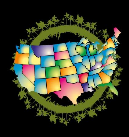 american palm beach vector art Stock Vector - 22270971