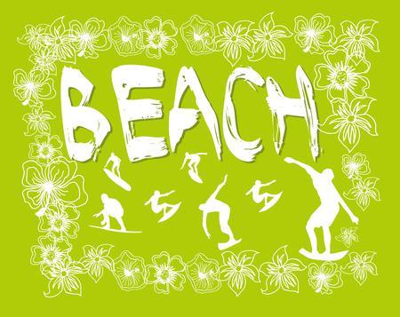 Pacific Beach surfer conception graphique Club