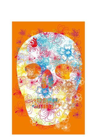 tattoo tribal skull art Vector
