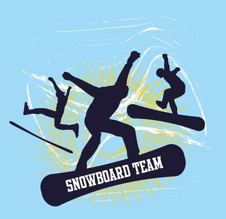sport invernali: skier sport invernali freestyler arte