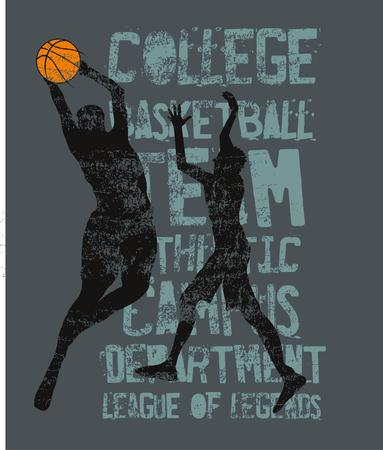 college basketball sports art Illustration