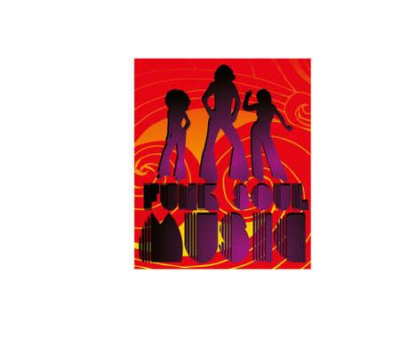 afro disco girls art