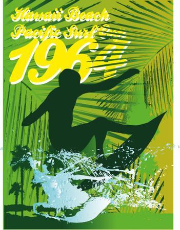 pacific surfer chamipon club  Illustration