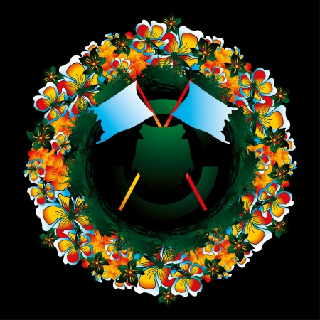 luau party: flor y la paz Vectores