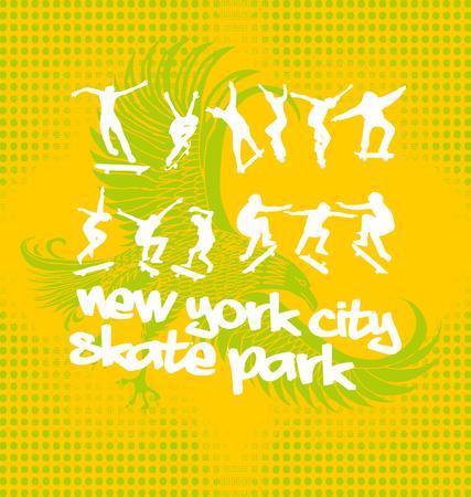 young culture: urban skate spirit  Illustration