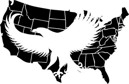 american map and eagle eps8 vector art Stock Vector - 22340593
