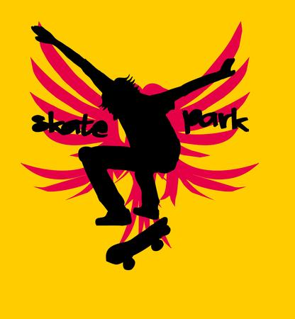 urban skate team art Vector