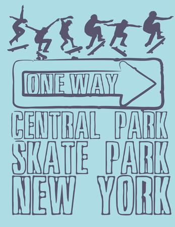 urban skate team art Vector
