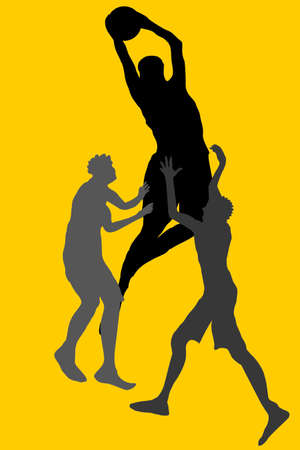 allstar: college basketball sports art Illustration