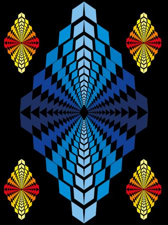 zig zag pattern textile art Vector