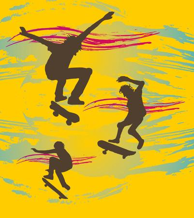urban skate spirit art Vector
