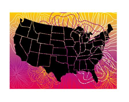 american floral maps eps8 vector art Stock Vector - 22601447
