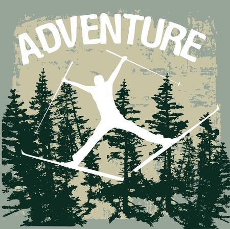 winter sports: winter sports skier vector art