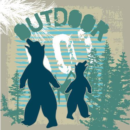perish: wintertime outdoor bear vector art
