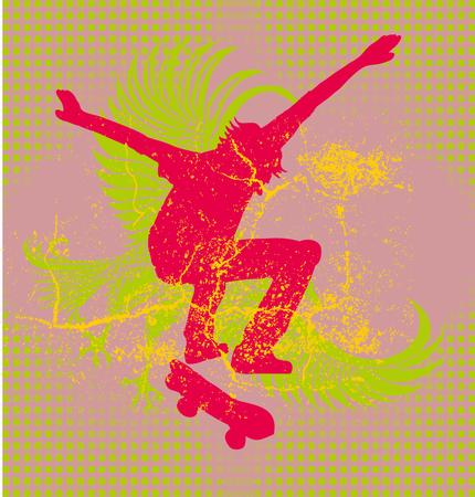 urban skate spirit vector art Vector