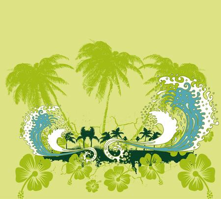 pacific ocean palm beach vector art royalty free cliparts vectors