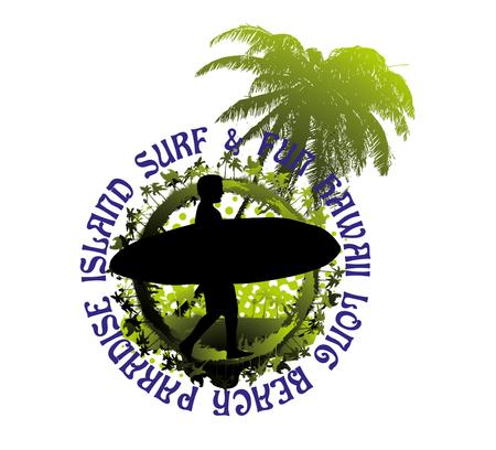 surfer vector: pacific surfer chamipon club vector graphic design