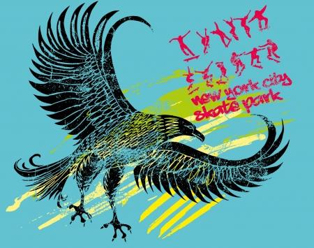 athletic eagle spirit vector art Vector