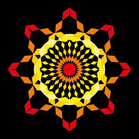 zig zag pattern textile vector art Vector
