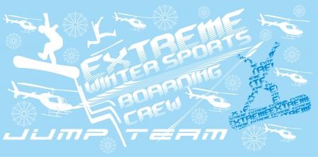 winter sports: freestyle winter sports skier art