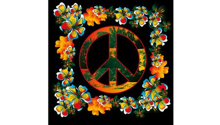 flower and peace art Vector