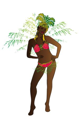 palm beach samba girls vector art