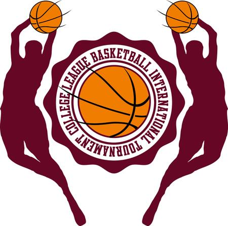 allstar: college basketball sports vector art