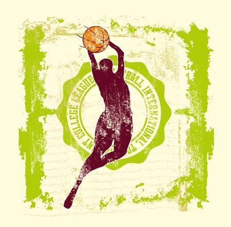 college basketball sports vector art Stock Vector - 22748932