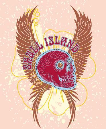 chillout: tattoo tribal skull island vector art