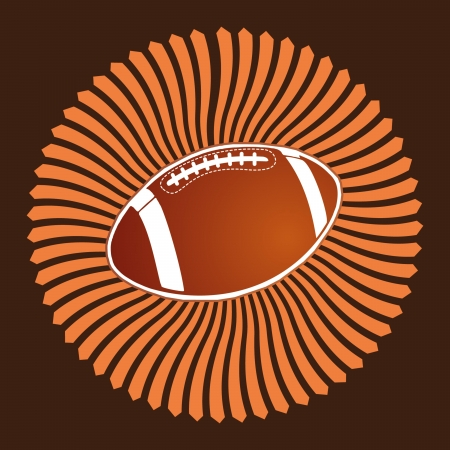 american football  ball vector art Stock Vector - 22751280