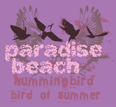 black background birds life vector art Illustration