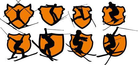 winter sports: freestyler winter sports skier vector art