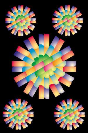 carbuncle: web button line vector art Illustration
