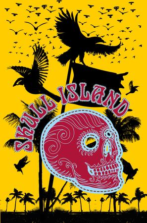 tattoo tribal skull island vector art Stock Vector - 22784815