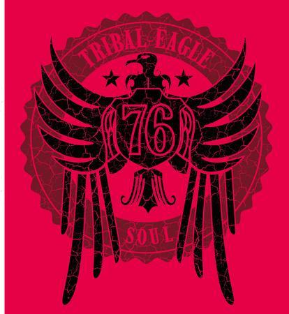 tribal tattoo eagle vector art Vector