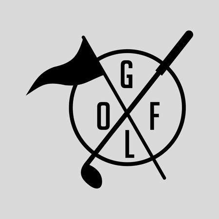 golf iron: golf sports equipment vector art
