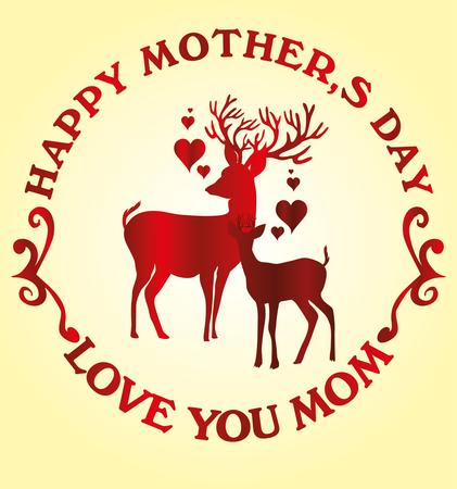 happy mothers day vector art Stock Vector - 23089058