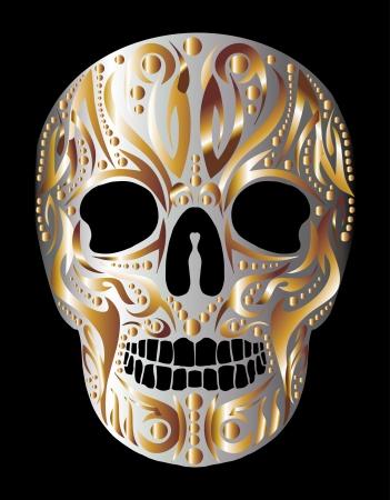 tattoo tribal skull vector art Stock Vector - 23089075
