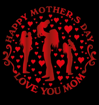 happy mothers day vector art Vector
