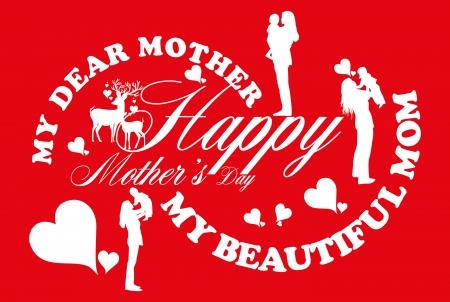 happy mothers day vector art Stock Vector - 23089128