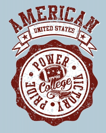 american college sports vector art Stock Vector - 23153598